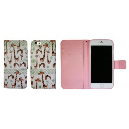 Apple iPhone 6/6S - Preklopna torbica (WLGP) - Giraffe
