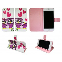 Apple iPhone 6/6S - Preklopna torbica (WLGP) - Owls in love