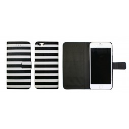 Apple iPhone 6/6S - Preklopna torbica (60) - Navy black and white