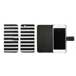 Apple iPhone 6/6S - Preklopna torbica (60) - Navy black and white