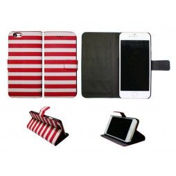 Apple iPhone 6/6S - Preklopna torbica (60) - Navy red and white