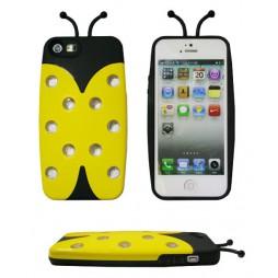 Apple iPhone 5/5S/SE - Okrasni pokrovček (Pikapolonica) - rumen