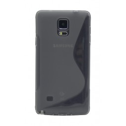 Samsung Galaxy Note 4 - Gumiran ovitek (TPU) - sivo-prosojen SLine