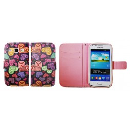 Samsung Galaxy Core - Preklopna torbica (WLGP) - Colorful hearts