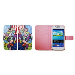 Samsung Galaxy Core - Preklopna torbica (WLGP) - Colorful flowers