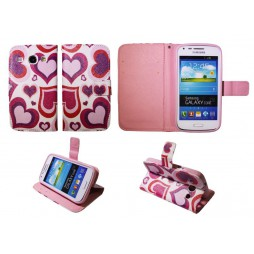 Samsung Galaxy Core - Preklopna torbica (WLGP) - Red hearts