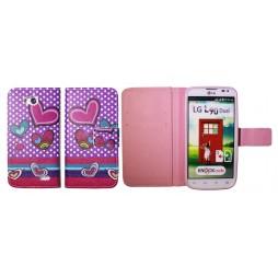 LG L90 - Preklopna torbica (WLGP) - Dots&hearts