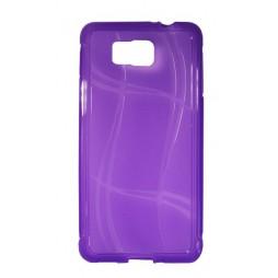 Samsung Galaxy Alpha - Gumiran ovitek (TPU) - vijolično-prosojen WLine