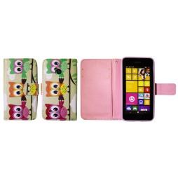 Nokia Lumia 530 - Preklopna torbica (WLGP) - Owls