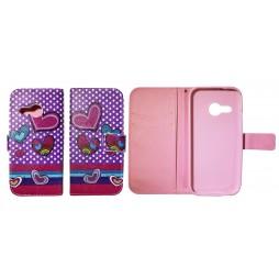 HTC One Mini 2 - Preklopna torbica (WLGP) - Dots&hearts