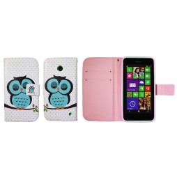 Nokia Lumia 630/635 - Preklopna torbica (WLGP) - Blue owl