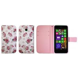 Nokia Lumia 630/635 - Preklopna torbica (WLGP) - Flowers