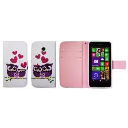 Nokia Lumia 630/635 - Preklopna torbica (WLGP) - Owls in love