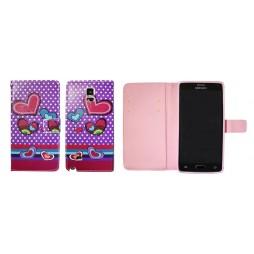 Samsung Galaxy Note 4 - Preklopna torbica (WLGP) - Dots&hearts