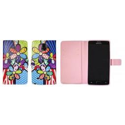 Samsung Galaxy Note 4 - Preklopna torbica (WLGP) - Colorfull flowers