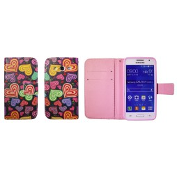Samsung Galaxy Core 2 - Preklopna torbica (WLGP) - Colorfull hearts