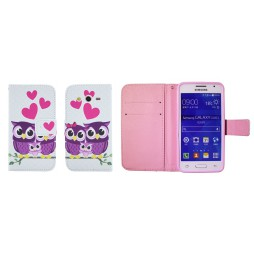 Samsung Galaxy Core 2 - Preklopna torbica (WLGP) - Owls in love