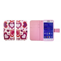 Samsung Galaxy Core 2 - Preklopna torbica (WLGP) - Red hearts