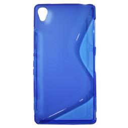 Sony Xperia Z3 - Gumiran ovitek (TPU) - modro-prosojen SLine