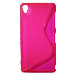 Sony Xperia Z3 - Gumiran ovitek (TPU) - roza-prosojen SLine