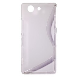 Sony Xperia Z3 Compact/Mini - Gumiran ovitek (TPU) - belo-prosojen SLine
