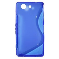 Sony Xperia Z3 Compact/Mini - Gumiran ovitek (TPU) - modro-prosojen SLine