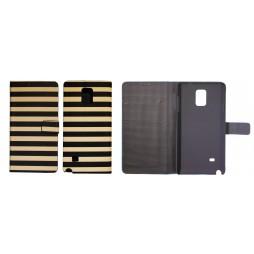 Samsung Galaxy Note 4 - Preklopna torbica (60) - Navy black and beige