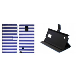 Samsung Galaxy Note 4 - Preklopna torbica (60) - Navy blue and white
