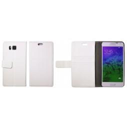 Samsung Galaxy Alpha - Preklopna torbica (WL) - bela