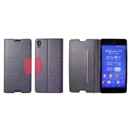 Sony Xperia Z3 - Preklopna torbica (47G) - črna
