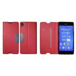 Sony Xperia Z3 - Preklopna torbica (47G) - rdeča