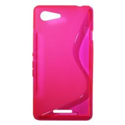 Sony Xperia E3 - Gumiran ovitek (TPU) - roza-prosojen SLine