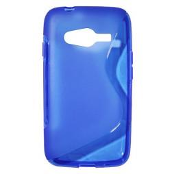 Samsung Galaxy Trend 2/S Duos 3/Trend 2 Lite - Gumiran ovitek (TPU) - modro-prosojen SLine
