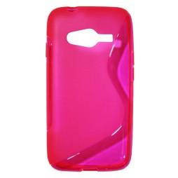 Samsung Galaxy Trend 2/S Duos 3/Trend 2 Lite - Gumiran ovitek (TPU) - roza-prosojen SLine