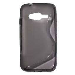 Samsung Galaxy Trend 2/S Duos 3/Trend 2 Lite - Gumiran ovitek (TPU) - sivo-prosojen SLine