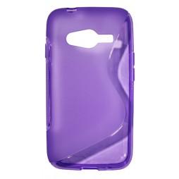 Samsung Galaxy Trend 2/S Duos 3/Trend 2 Lite - Gumiran ovitek (TPU) - vijolično-prosojen SLine