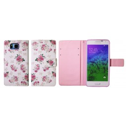 Samsung Galaxy Alpha - Preklopna torbica (WLGP) - Flowers