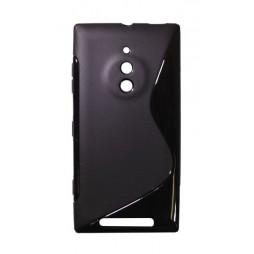 Nokia Lumia 830 - Gumiran ovitek (TPU) - črn SLine