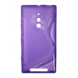 Nokia Lumia 830 - Gumiran ovitek (TPU) - vijolično-prosojen SLine