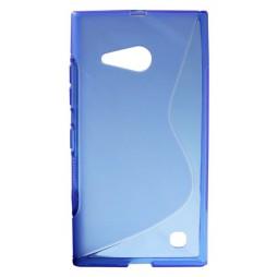 Nokia Lumia 735/730 - Gumiran ovitek (TPU) - modro-prosojen SLine