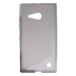 Nokia Lumia 735/730 - Gumiran ovitek (TPU) - sivo-prosojen SLine