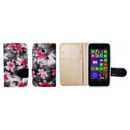 Nokia Lumia 630/635 - Preklopna torbica (64) - črna