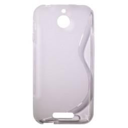 HTC Desire 510 - Gumiran ovitek (TPU) - belo-prosojen SLine