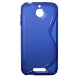 HTC Desire 510 - Gumiran ovitek (TPU) - modro-prosojen SLine