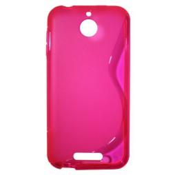 HTC Desire 510 - Gumiran ovitek (TPU) - roza-prosojen SLine