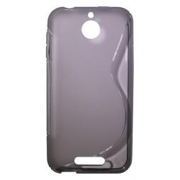HTC Desire 510 - Gumiran ovitek (TPU) - sivo-prosojen SLine