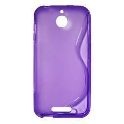 HTC Desire 510 - Gumiran ovitek (TPU) - vijolično-prosojen SLine