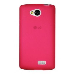 LG F60 - Gumiran ovitek (TPU) - roza-prosojen mat