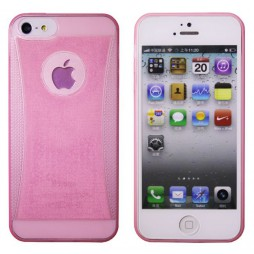 Apple iPhone 5/5S/SE - Gumiran ovitek (19) - roza