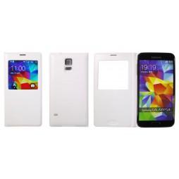 Samsung Galaxy S5/S5 Neo - Preklopna torbica (BT) - bela